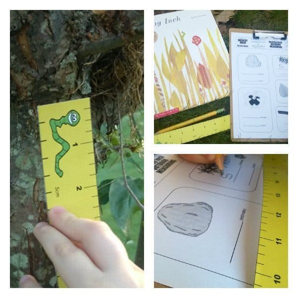 Download the printable measuring sheet and get measuring with the book Inch by Inch by Leo Lionni