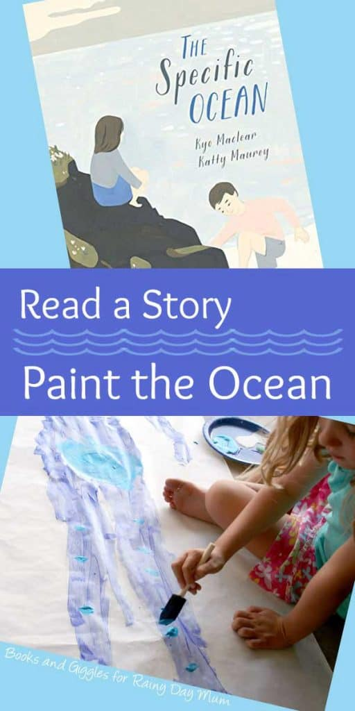 Explore memories and feelings with books and art. Fantastic suggestion to read The Specific Ocean and create paint memories of the beach and ocean
