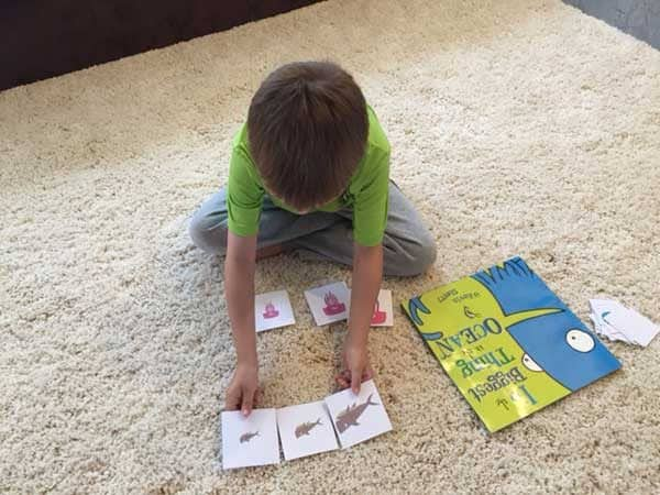 Download and printout these ocean comparing and matching games to play with your children and work on sorting, comparing and matching ocean animals.
