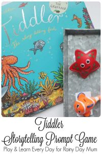 Simple to set up Ocean themed book activity for the fantastic children's storybook Tiddler by Julia Donaldson