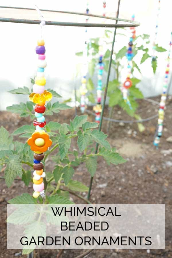 Whimsical Beaded Garden Ornaments
