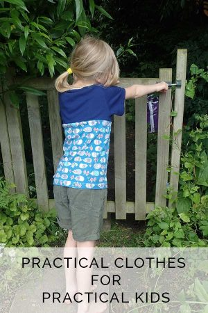 Kid designed practical clothes from The Patchery for practical kids.