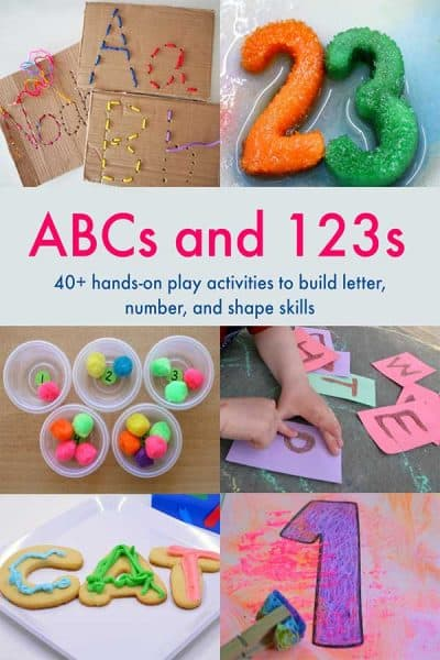 Support your child's literacy and maths with this brand new e-book from some of your favourite bloggers sharing hands-on activities for ABC's and 123's - click through for all the details and find out more information
