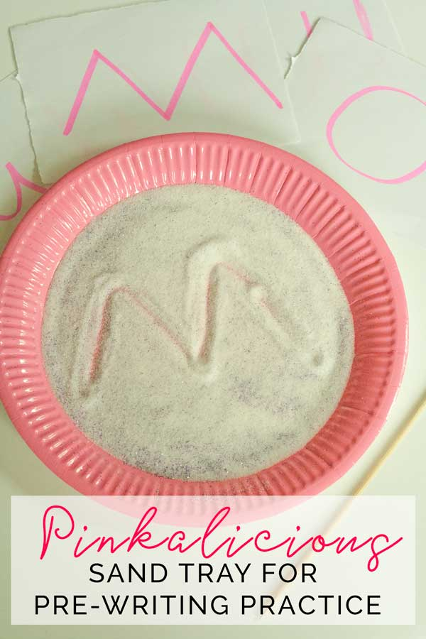 Pinkalicious Sand Tray for Pre-Writing Practice