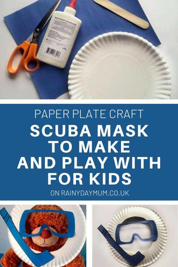 scuba mask craft for kids from a paper plate