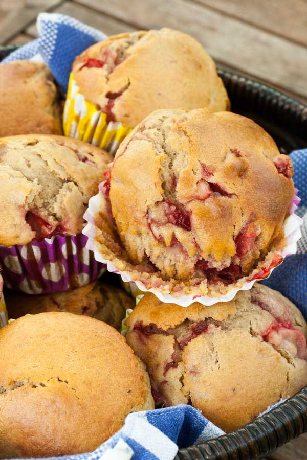 Perfect summer recipe and ideal for breakfast or a snack. Strawberry Muffins one of the best ways to use up over ripe strawberries this summer