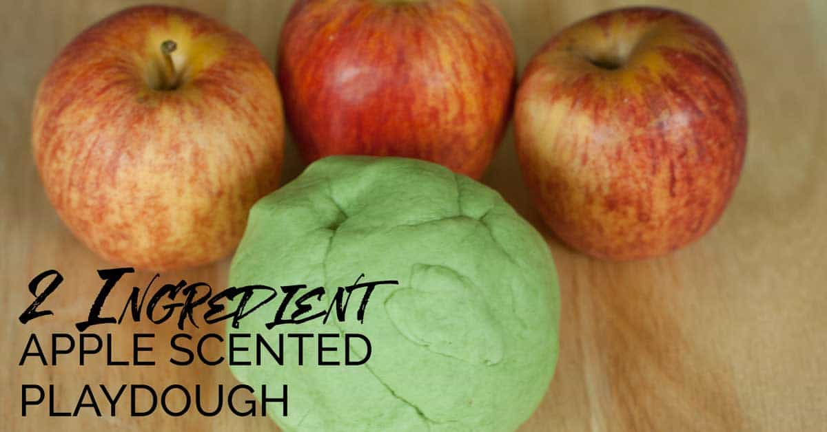 2 Ingredient Quick And Easy Apple Scented Playdough Recipe