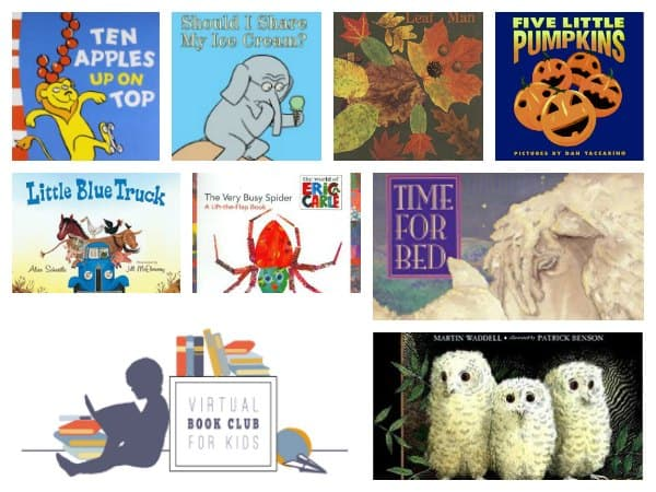 Join us for the WEEKLY online book club for kids. With themed activities for 2 - 5 year old's throughout the school year you don't want to miss out. Click through to discover how to follow along and join in the hands-on learning fun