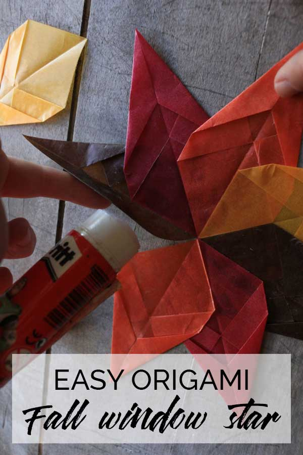Easy Autumn Window Star to Make with Kids