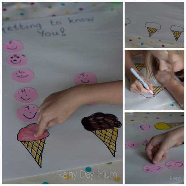 graphing family members ice-cream preferences