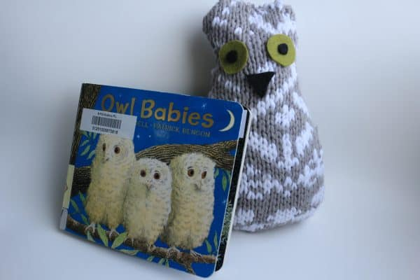 owl babies recycled sweater craft