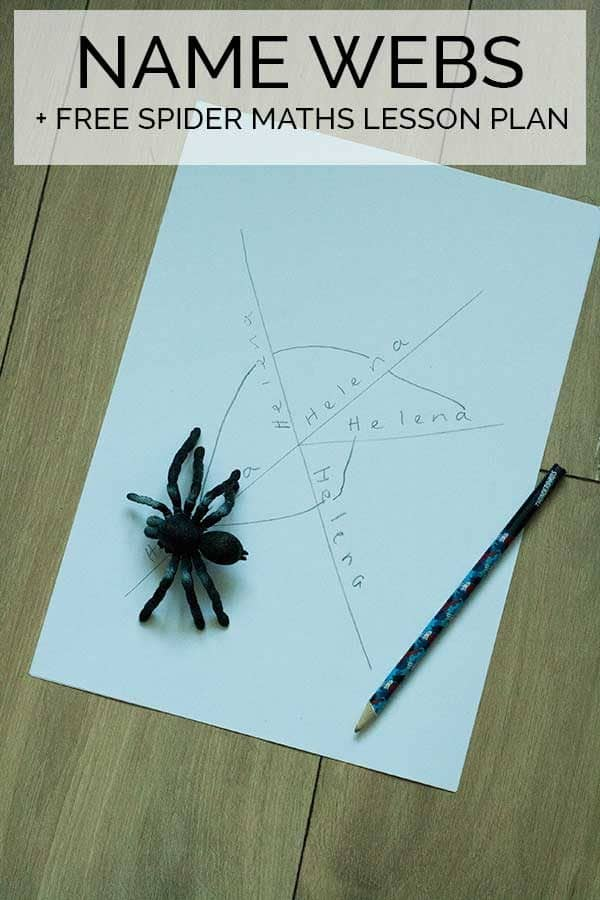 Name Webs and FREE Spider Maths Lesson Plan