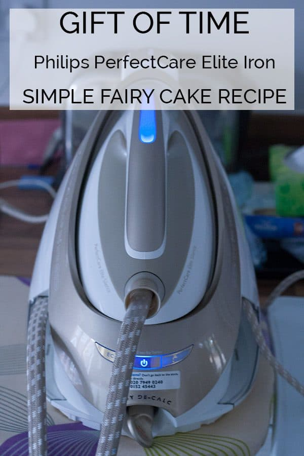 Save up to 40 minutes on your ironing with Philip PerfectCare Elite Iron and instead spend time with the family and make delicious Fairy Cakes