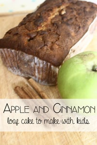 Apple and Cinnamon Loaf Cake for Kids to Make