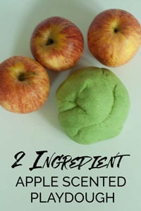 2-ingredient Apple Scented Play Dough