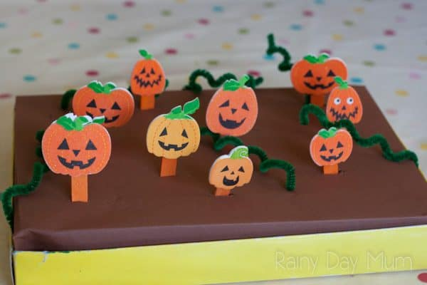 Create your own Pumpkin Patch Maths Game with this step by step instructions ideal for some autumn based hands-on learning.