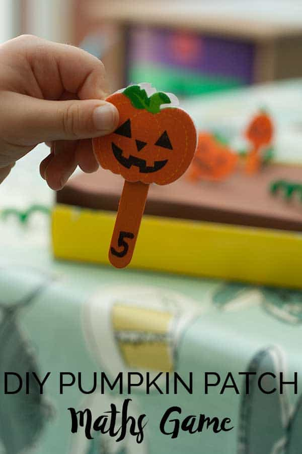 DIY Pumpkin Patch Maths Game for Preschoolers