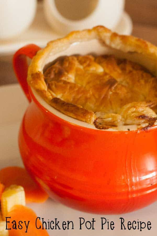 Easy and simple individual Chicken Pot Pie Recipe that you can batch make in advance and cook up quickly on a weeknight ideal for family meals.