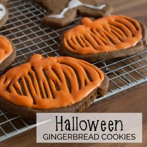 Halloween Gingerbread Cookies for Kids to Bake