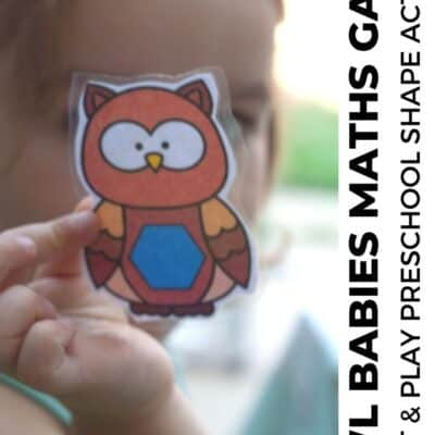 Owl Babies Print and Play Shape Game for Preschoolers