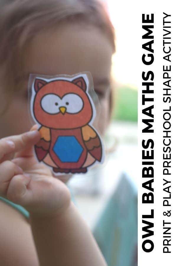 Owl Babies Maths Game for Preschoolers