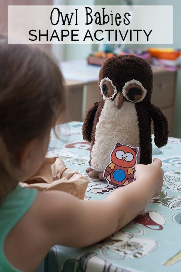Owl Babies Shape Activity for Preschoolers