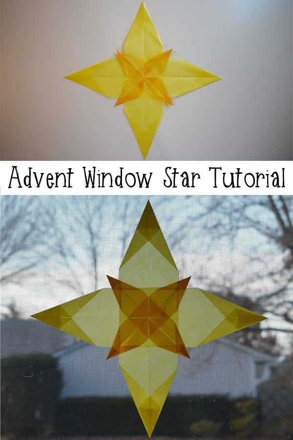 Beautiful Advent Window Star Tutorial