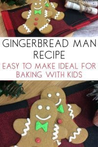 Easy Gingerbread Recipe that is kid-friendly and perfect for even preschoolers to make with supervision. Simple recipe to bake at Christmas time to create memories and traditions in the kitchen