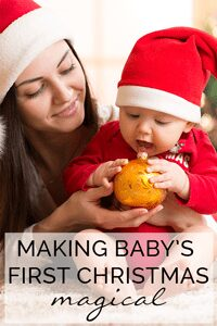 Making babies First Christmas Magical. Simple ideas to do as a family to celebrate this first Noel.