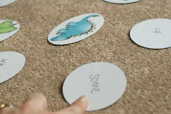 Dino Babies and Eggs First 100 Sight Words. Three Games for Kids learning to read