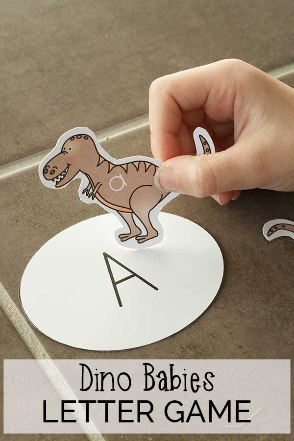 Dino Babies Letter Game