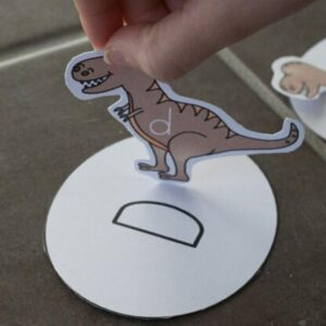 dinosaur letter game for preschoolers with free printable