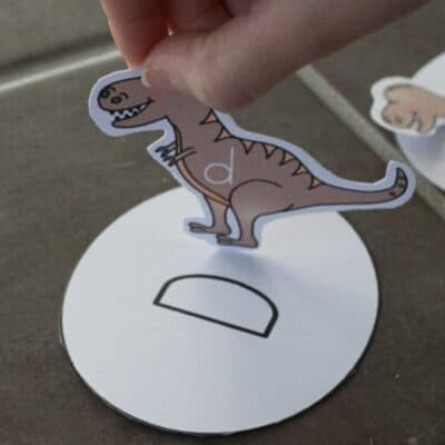 FREE Printable Baby Dinosaur Hatching Egg Letter Game for Preschoolers