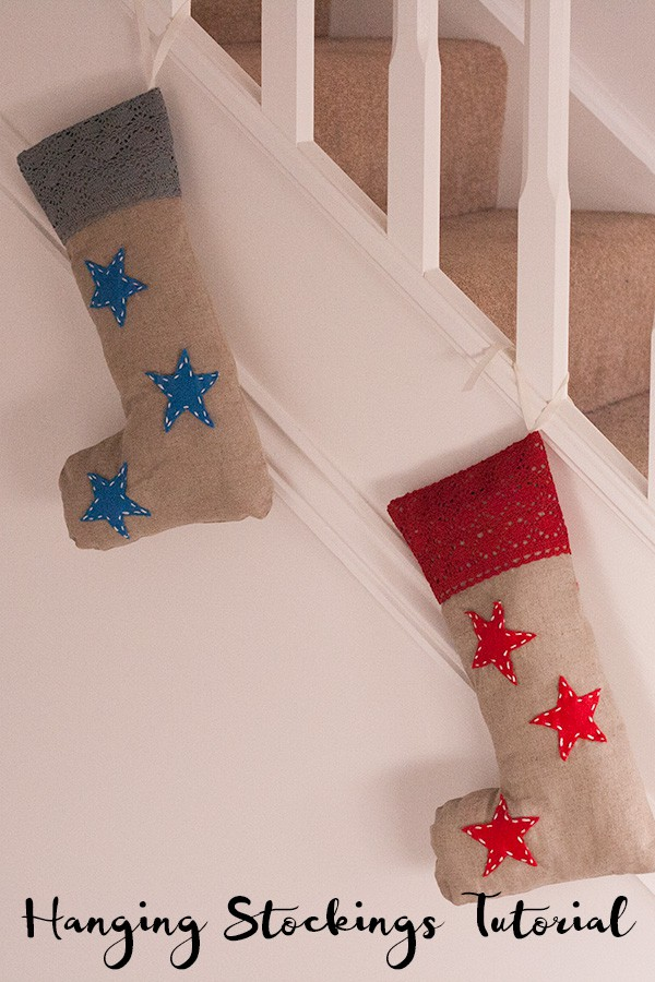 Rustic Hanging Stocking Tutorial to Decorate your Home