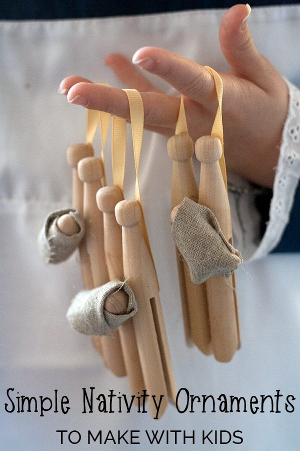 Create these beautiful simple and natural Nativity ornaments with kids. Spend time talking about the true meaning of Christmas as you craft together.