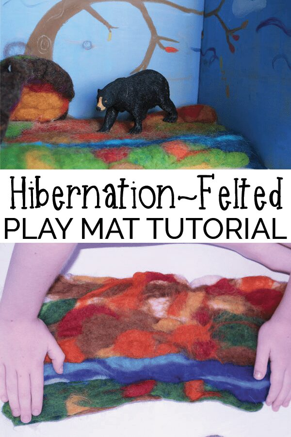 play mat tutorial to make for the nature table with kids