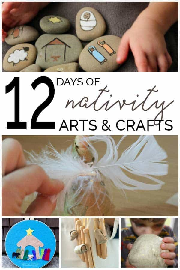 12 Days Nativity Story Inspired Arts and Crafts for Kids