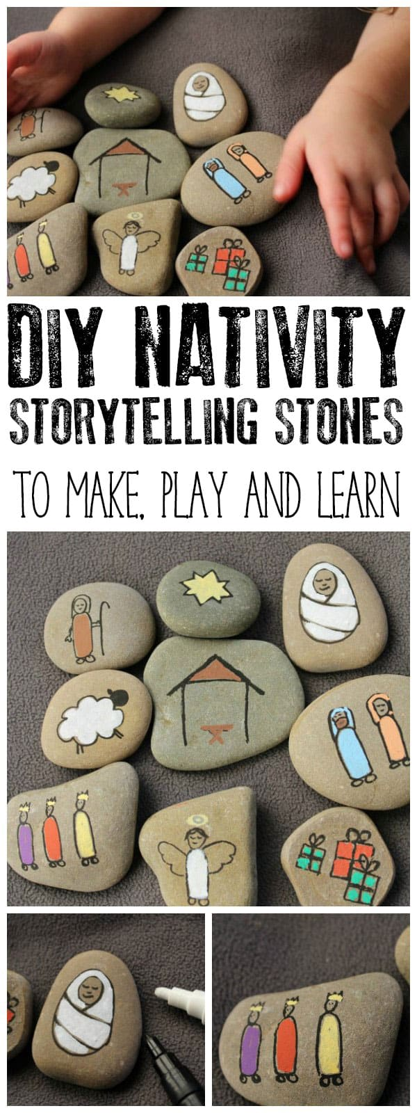 pinnable image of Nativity Story Stones collage