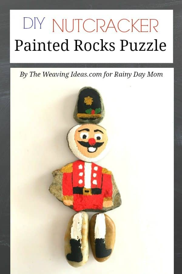 DIY Nutcracker Painted Rocks Puzzle