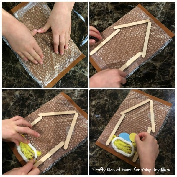 Textured Art Nativity Project for kids - based on the Nativity Story create this sensory art project
