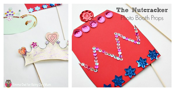A must have for your Nutcracker themed party these DIY Nutcracker photo booth props can be made and then used to capture those Christmas Memories