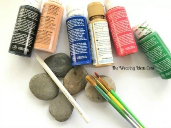 materials needed for Christmas Rock Painting