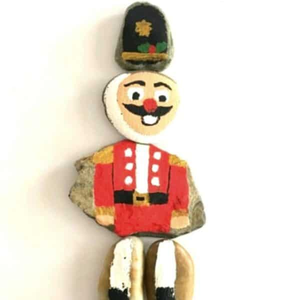 NUtcracker Painted Rock Puzzle to Make with and For Kids