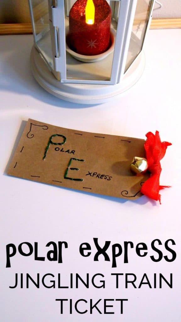 Create your own Polar Express Train Ticket Craft with this simple tutorial on making your own jingling ticket for Christmas Crafting Fun for Kids.