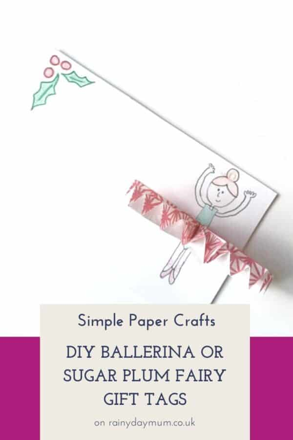 Simple paper Craft DIY gift tags to make with kids inspired by the Nutcracker