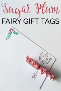 Nutcracker inspired gift tags for children and you to make. This simple Christmas craft will decorate your Christmas present perfectly this year
