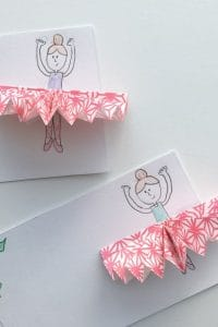 Simple Nutcracker Sugar Plum Fairy Gift Tags for Kids to Make