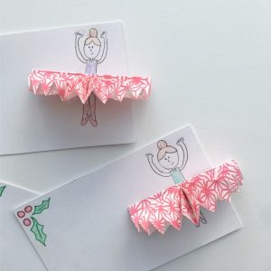 Simple Nutcracker Sugar Plum Fairy Gift Tags for Kids to Make