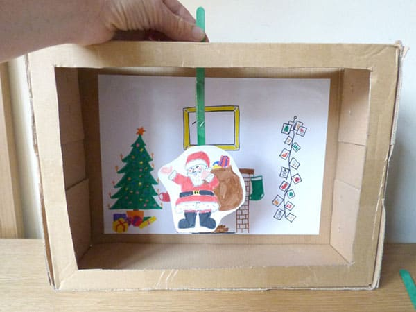 simple christmas craft and play activity for kids diy puppet theatre based on the story - Twas The Night Before Christmas Decorating Ideas