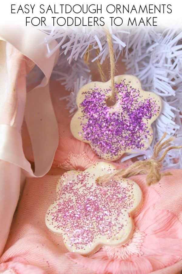 Easy Saltdough Ornaments with Glitter for Toddlers to Make
